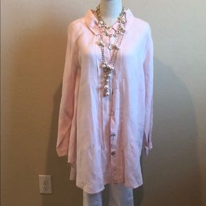 Match Paint Button Down Tunic Top